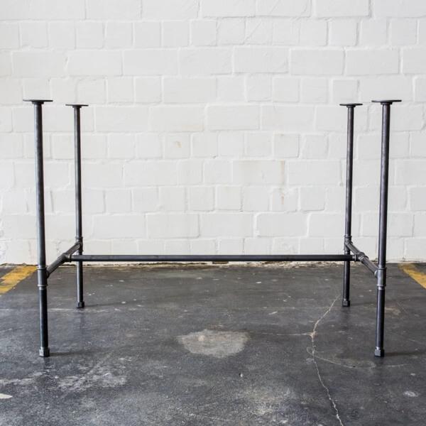 Esstisch mit Stahlrohr, Eiermann-Style Schreibtisch für Architekten im Industriedesign Industrial Design