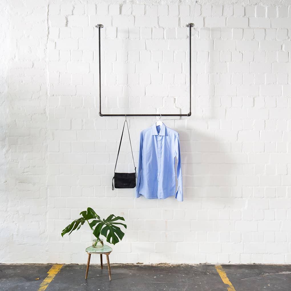 Deckenbefestigte Industrial Design Kleiderstange · Garderobe SWING