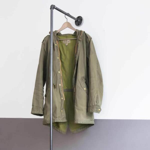 Garderobe Industrial Style Wasserrohr Temperguss auf Mass Aufbewahrung Ankleide Garderobenstange