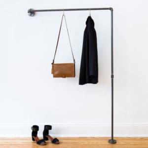 Garderobe Industrial Stahlrohr schmaler Flur Garderobenleiste Flur Eingang Wasserrohr Temperguss