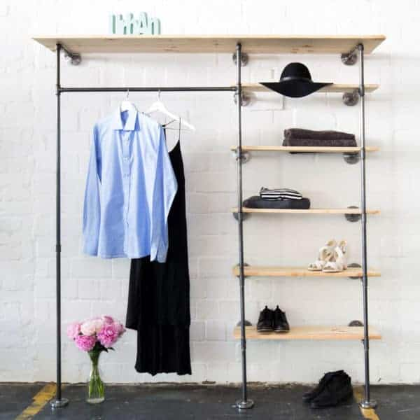 Industrial Design offener Kleiderschrank Kleiderschrank mit Regal