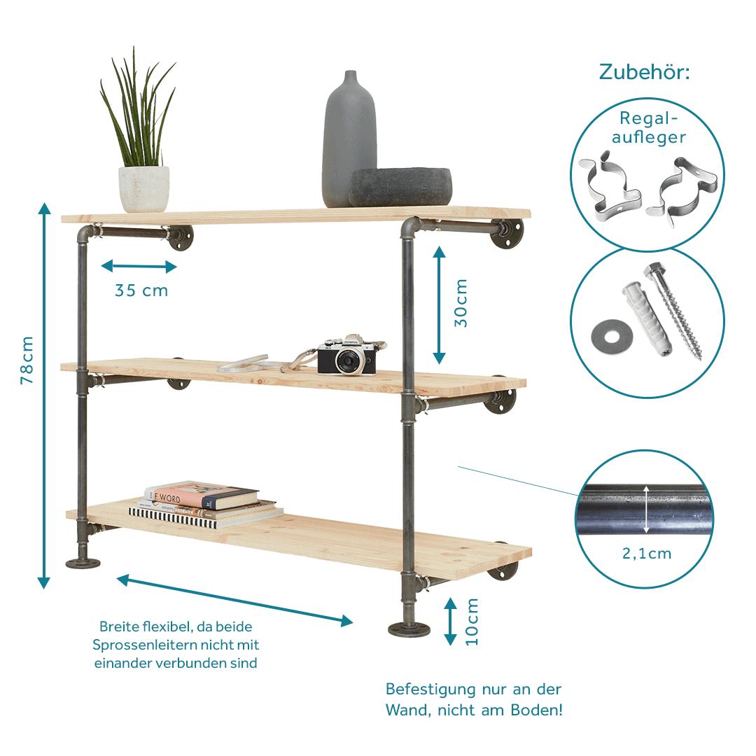 Regal Industriedesign Als Sideboard Aus Stahlrohr Hier Online Kaufen