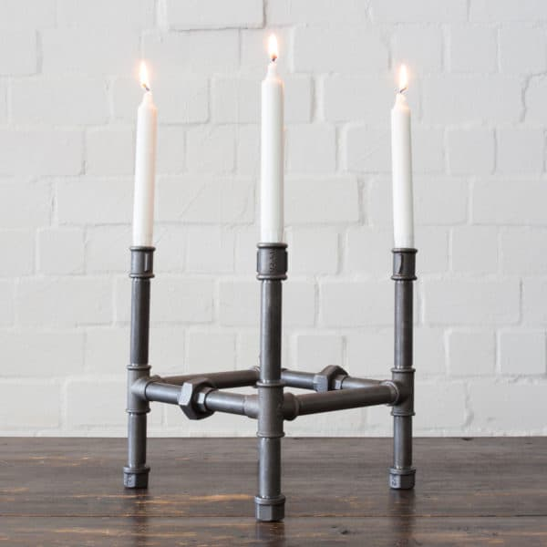 Kerzenstaender Industrial Design Kerzenhalter Temperguss Shabby Chic Steampunk