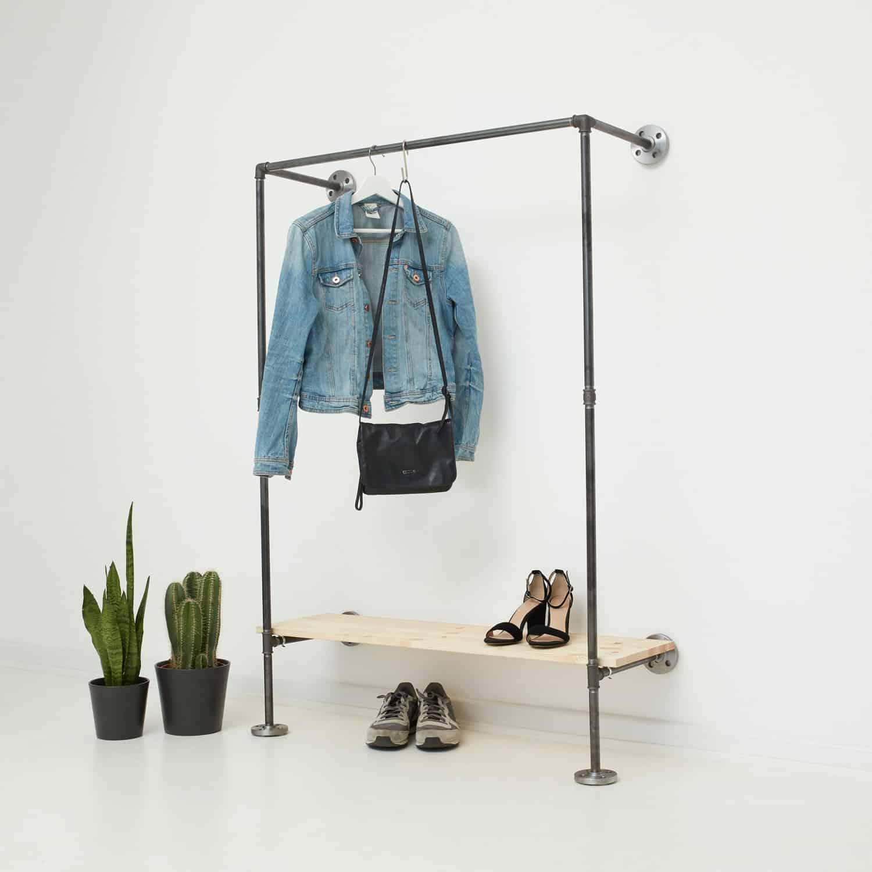 Garderobe Industrial Design Mit Schuhregal Auf Mass Online Kaufen