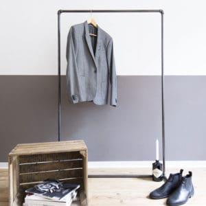 Kleiderstange Industrial Design Kleiderstaender Freistehend Wasserrohr Temperguss