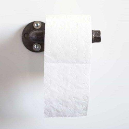 Toilettenpapierhalter Industrial Design Klorollenhalter Temperguss Wasserrohr