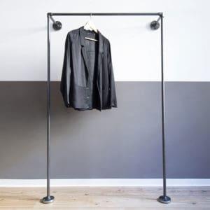 Garderobe Industrial Loft Style Wasserrohr Metall Temperguss WandmontageKleiderstange