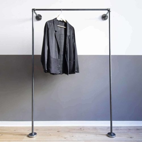 Garderobe Industrial Style Wasserrohr Metall Temperguss