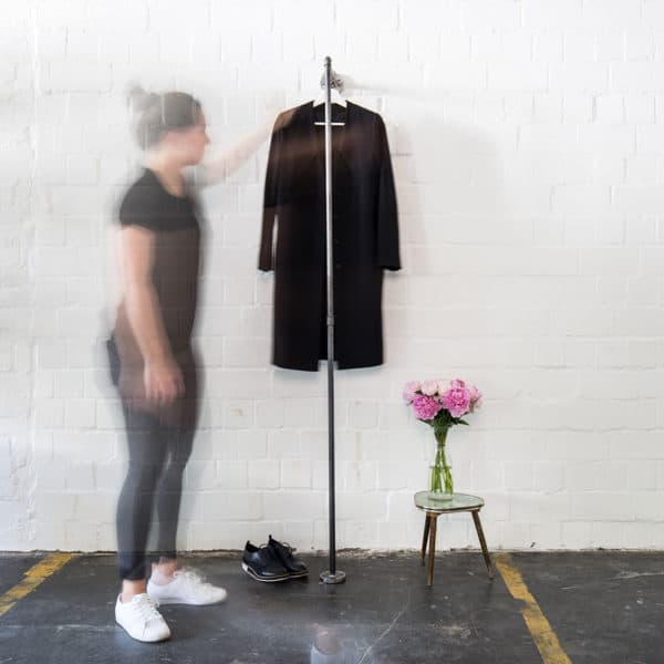 Industrial Design Kleiderstange Wandmontage Ankleide Flur Eingang Jacken Temperguss Moebel DIY selber bauen