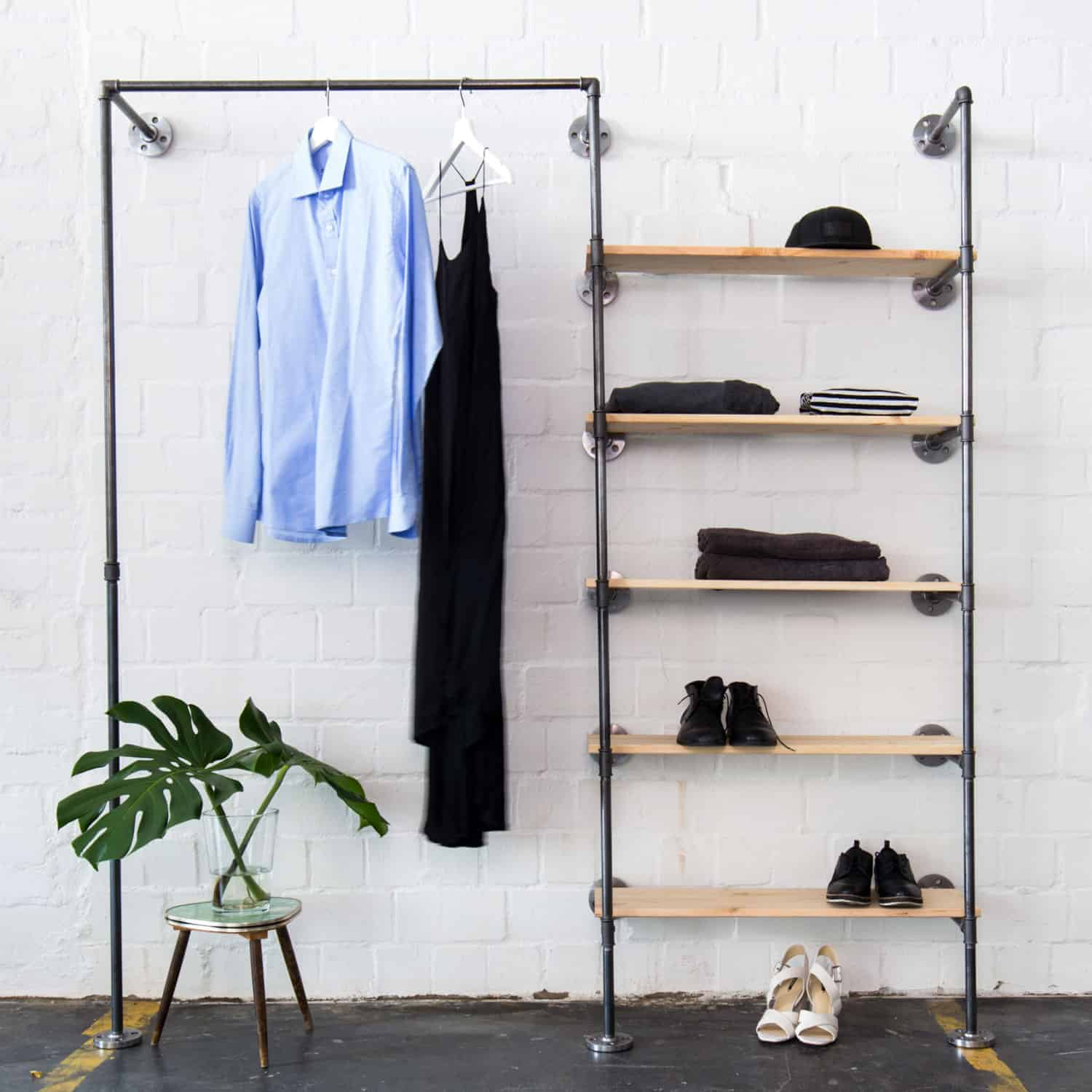 Industrial Design Open Closet System 183 Clothes Rail