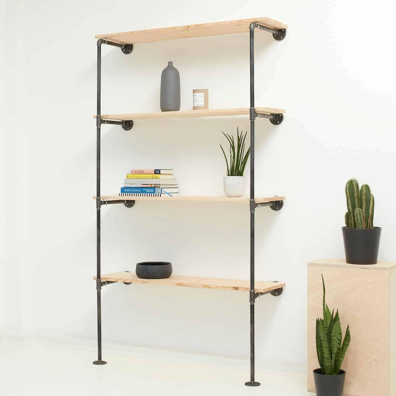 Regal Industrial Design Aus Stahlrohr Temperguss Online Bestellen