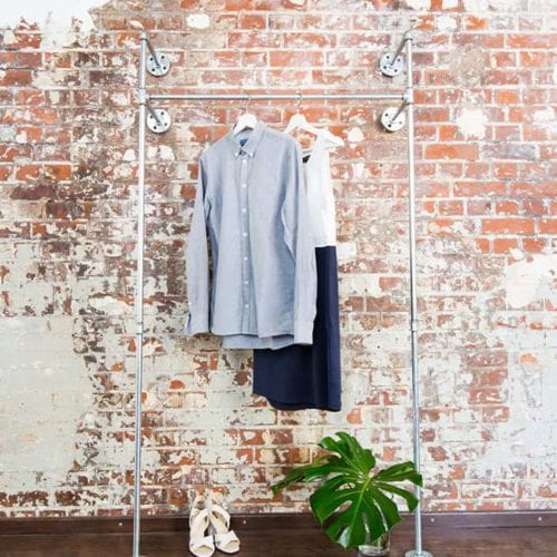 Kleiderstaender Industrial Style Garderobe Wasserrohr Temperguss Moebel