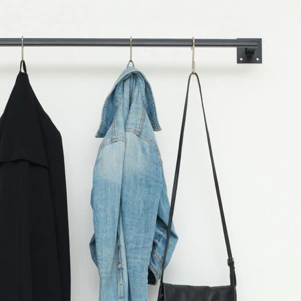 Ankleide Industrial Design Kleiderstange skandinavisch Garderobe geschweisst Metall schwarz pulverbeschichtet