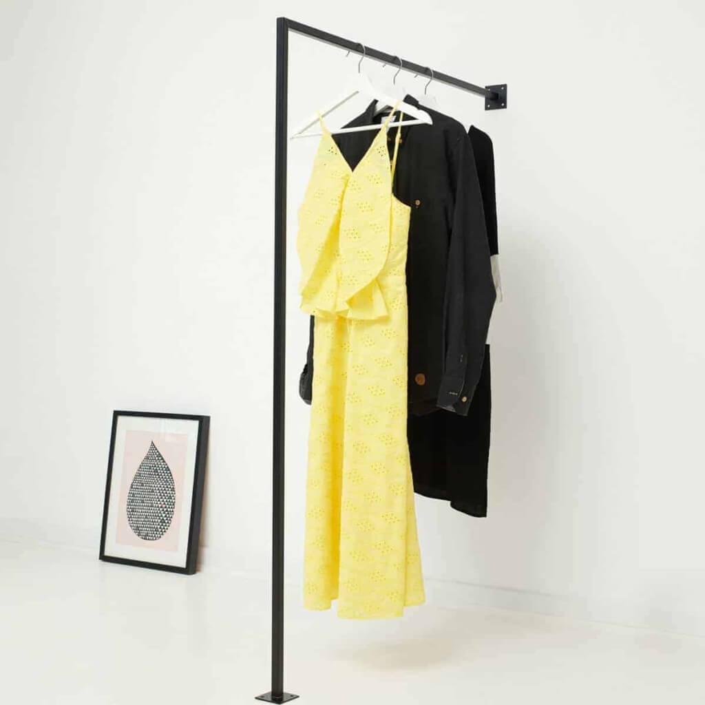 Garderobe Industrial Design Kleiderstaender Metall geschweisst pulverbeschichtet skandinavisch