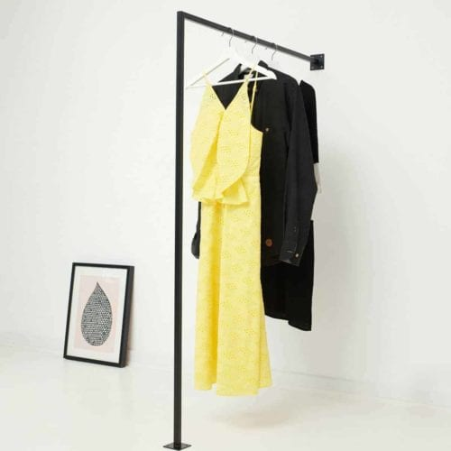 Garderobenstange Kleiderstaender Metall geschweisst pulverbeschichtet