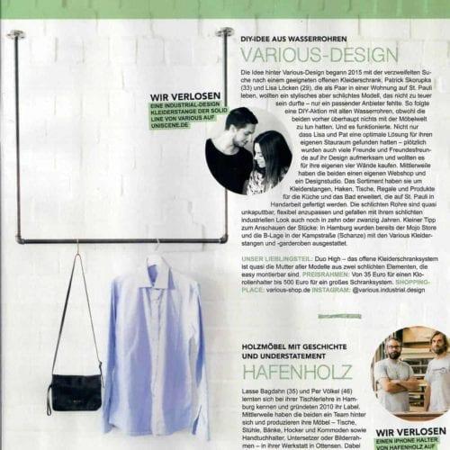 various im Magazin UNISCENE