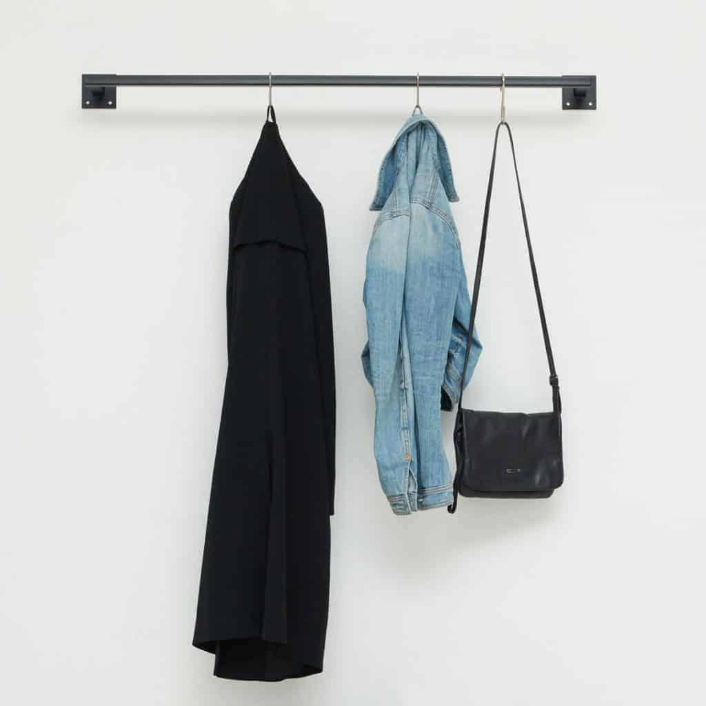 Kleiderstange industrial Design skandinavisch schwarz geschweisst Metall Garderobe