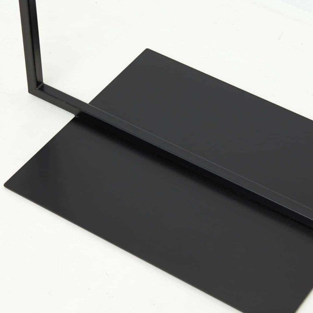 Kleiderstaender Industrial Design Standfuss Metall Stahl Metall geschweisst schwarz pulverbeschichtet