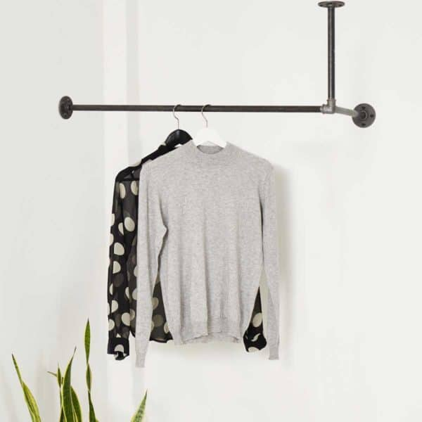 Industriedesign Garderobenstange Deckenbefestigt L-Form