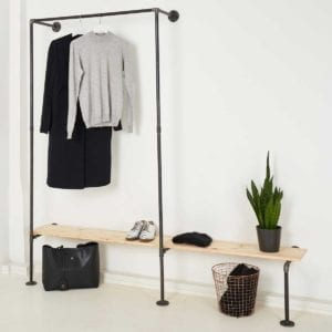 Garderobe Industrial Design Möbel Wasserrohr Temperguss