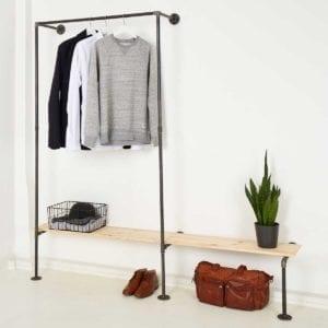 Garderobe Industrial Look Wunschgröße aus Wasserrohr