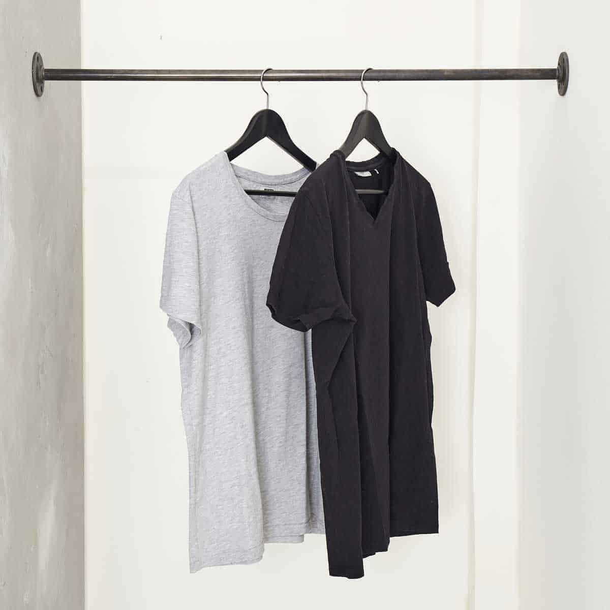 Berühmt Kleiderstange Industrial Design zwischen zwei Wänden & in der Nische AL36