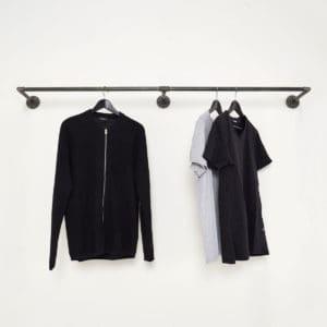 Extrem Kleiderstange Industrial Design: Gefertigt aus Stahlrohr & Temperguss FU56