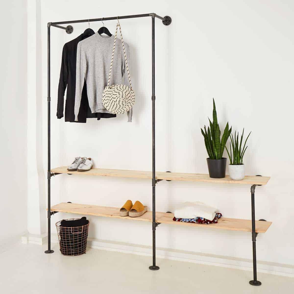 Garderobe Industrial Design Massgefertigt Aus Stahlrohr Online Kaufen