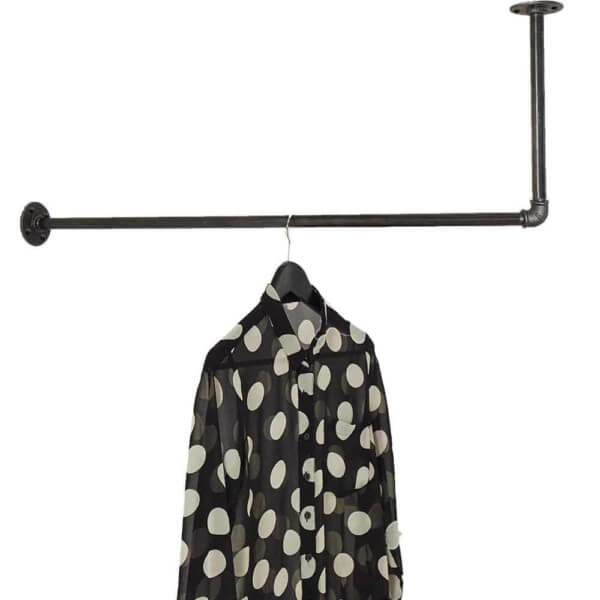 Kleiderstange Industrial Garderobe Decke L-Form Deckenmontage Ecke