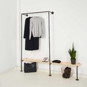 Industrial Design Garderobe aus Stahlrohr online bestellen