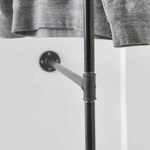 Garderobe Industrial Style Wasserrohr stabil Ladeneinrichtung Kleiderstange Jacke Kleidung