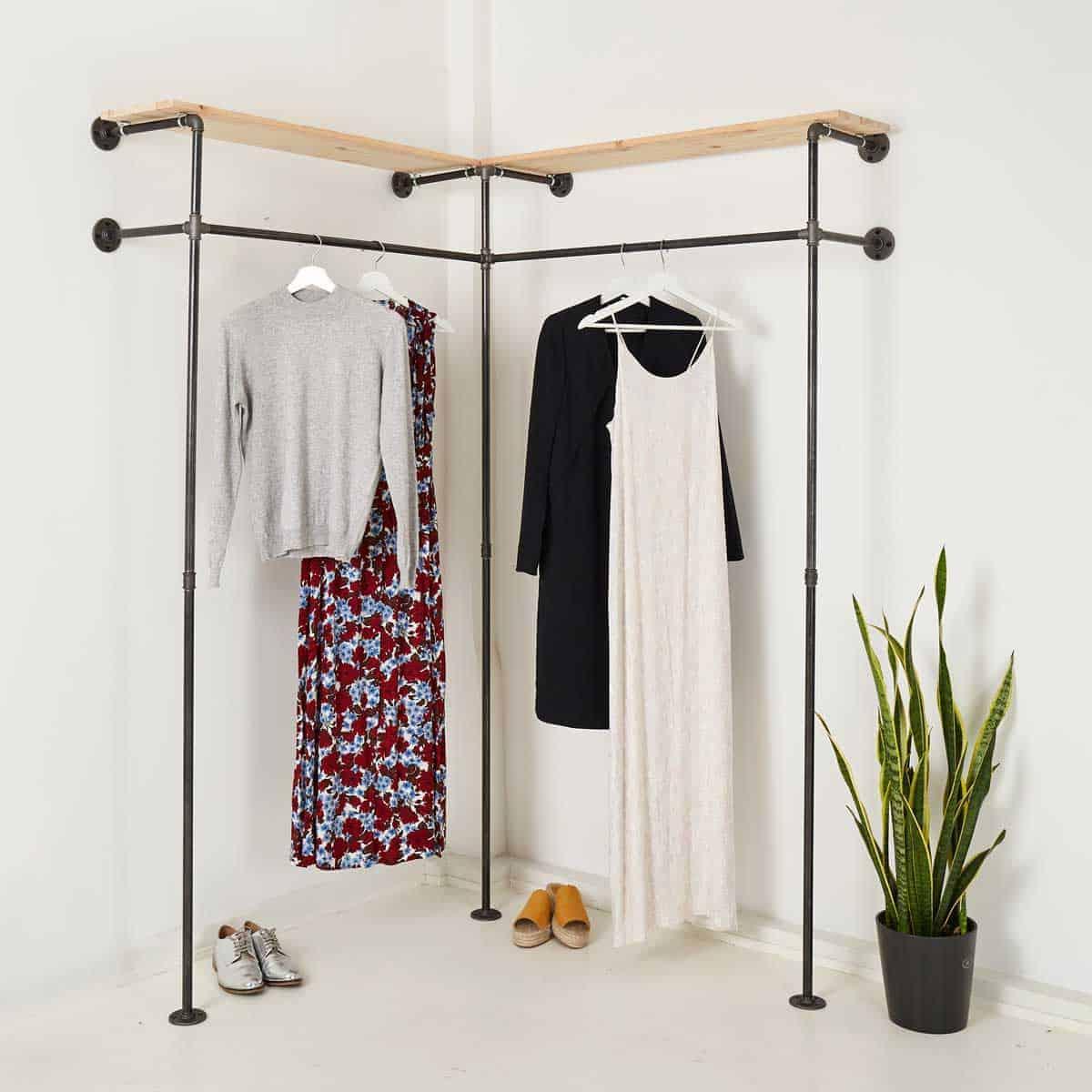 Garderobe Industrial Design Kleiderschrank Ecklosung Online Bestellen