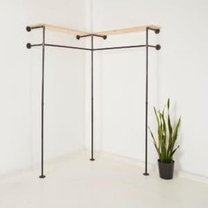 Kleiderständer Industrial Design Tablar Wasserrohr