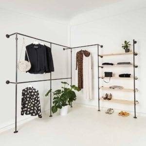 Kleiderstange Industrial Design Regal Kombination Stahlrohr Moebel