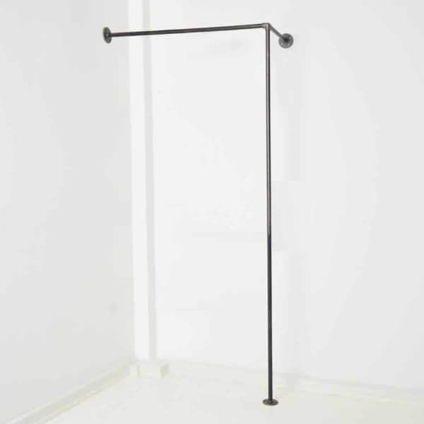 Garderobe Industrial Design Wasserrohr nach Maß Nische
