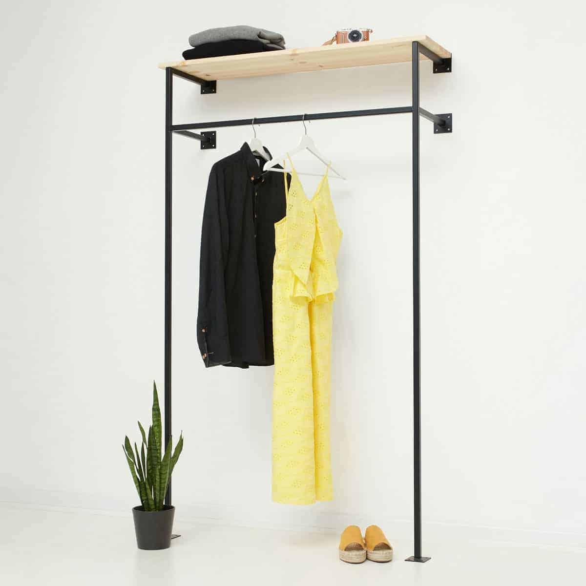 Offener Industrial Kleiderschrank Simple High Geschweisst Pulverbeschichtet