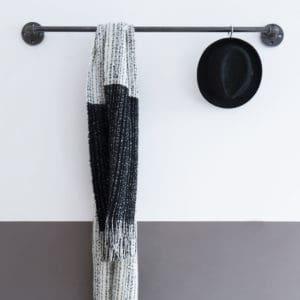 Kleiderstange Industrial Design Garderobe Wasserrohr Garderobenstange Stahlrohr Wandgarderobe