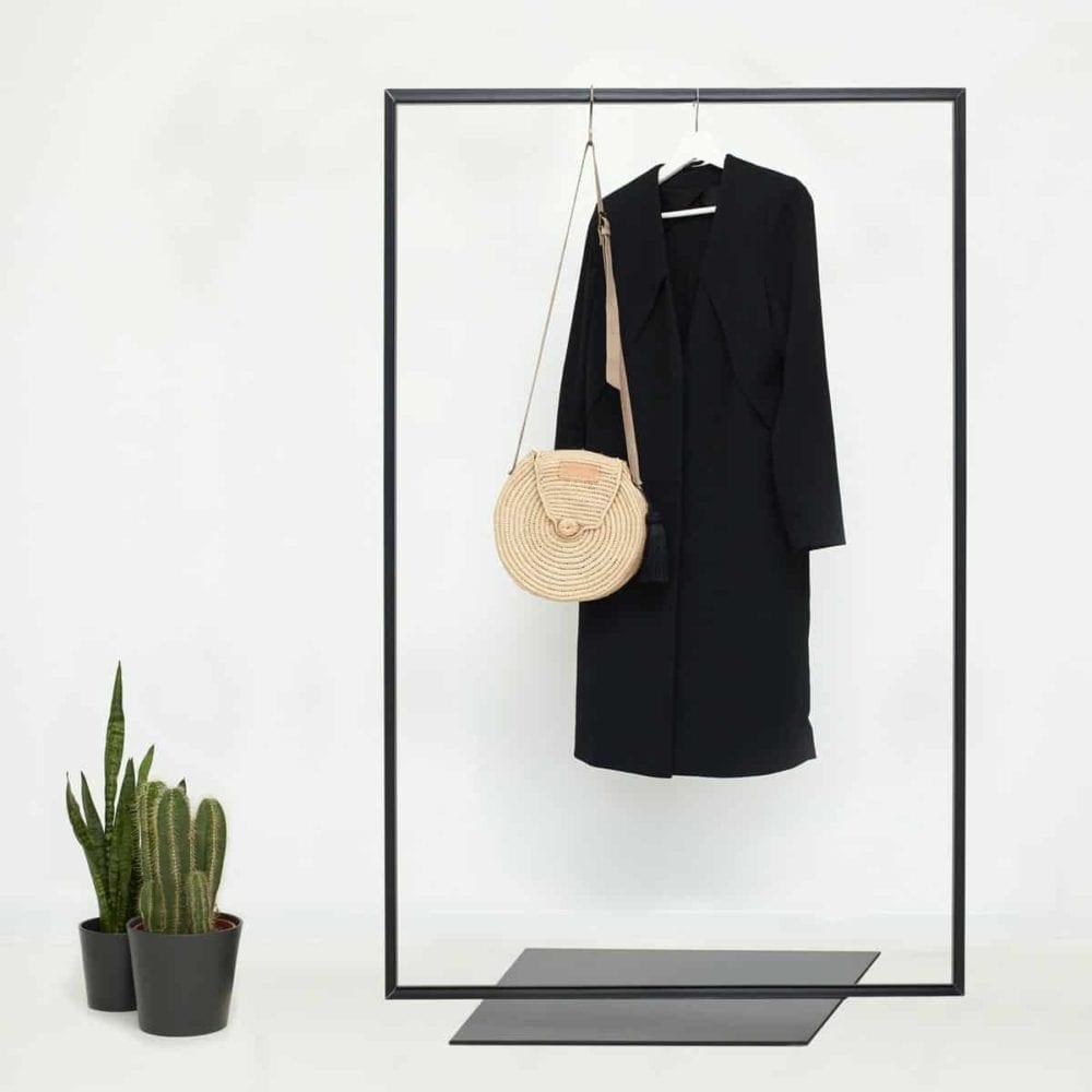 Garderobe Industrial Style Skandinavisch Schwarz Metall Kleiderstaender Kleiderstange Garderobenständer