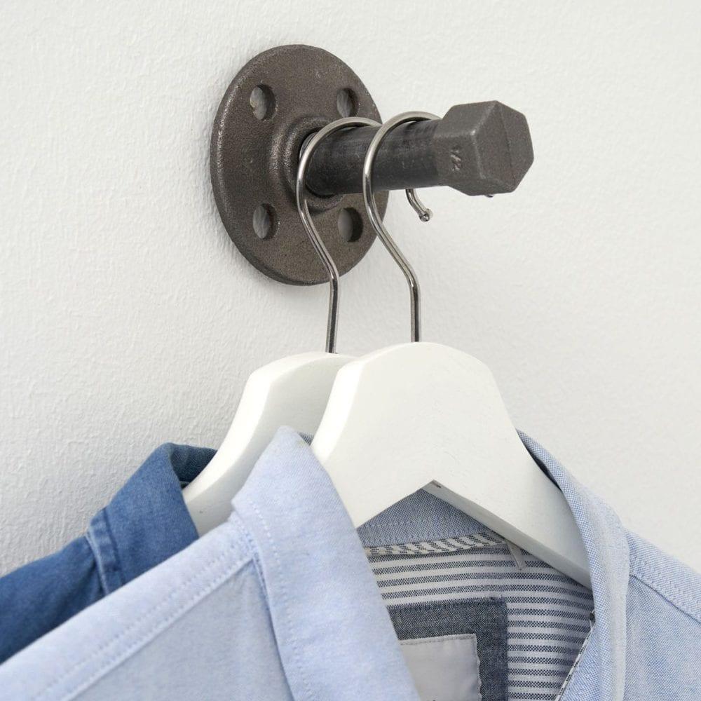Garderobenhaken Industriedesign Kleiderhaken Temperguss Wasserrohr
