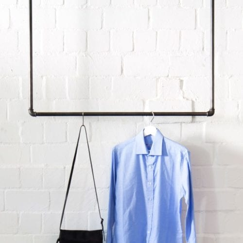 Kleiderstange Deckenmontage Garderobe Industrial Design Wasserrohr